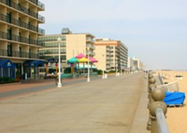 hotels, boardwalk, and beach